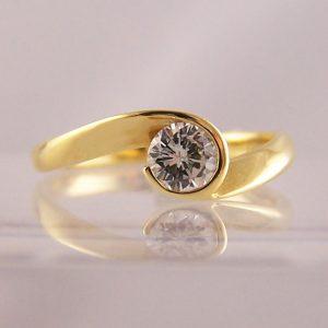 Rubover Set Diamond Engagement Rings