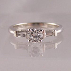 Engagement Rings With Diamond Shoulder