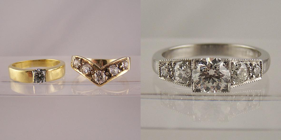 Resetting Diamond Rings