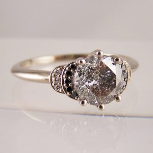 Salt & Pepper Diamond Engagement Rings