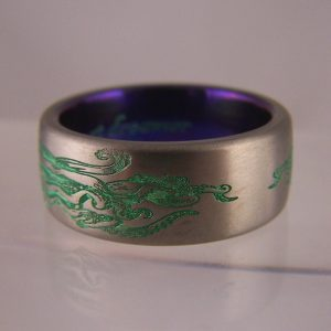 Fantasy fiction inspired rings