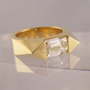 unusual bespoke engagement rings