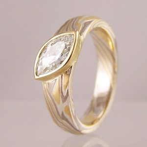 mokume gane diamond engagement rings