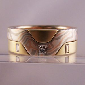 unusual bespoke wedding rings