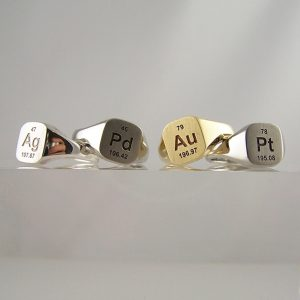 Periodic Table Signet Rings